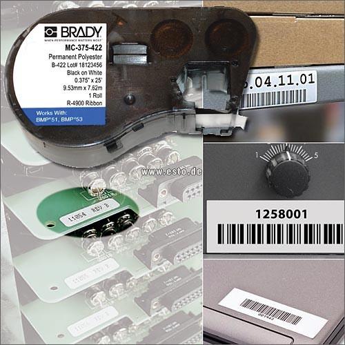 BMP51/53 Polyester-Etiketten B-422