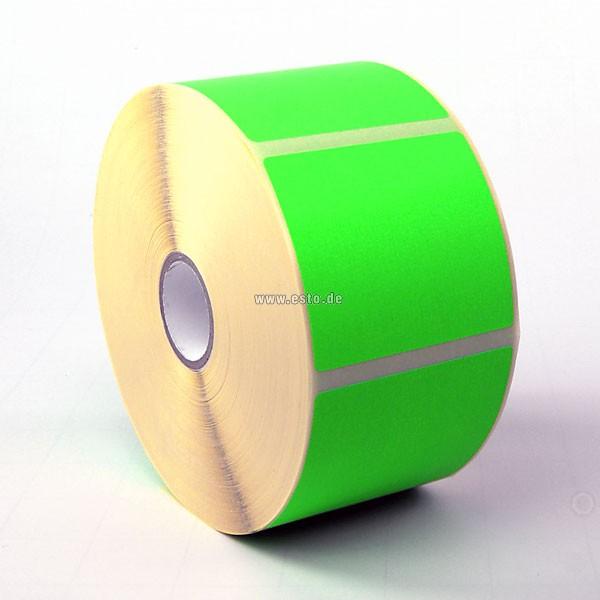 Papier-Etiketten leuchtgrün
