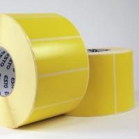 Papier-Etiketten gelb, 3 Zoll Kern