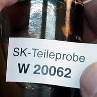 PE Kunststoffetiketten weiss, ablösbar auf  1 Zoll Kern