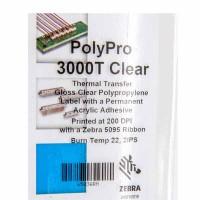 Zebra Polypro  3000T Polyester Etikett