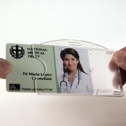 Hartplastikhülle quer, transparent