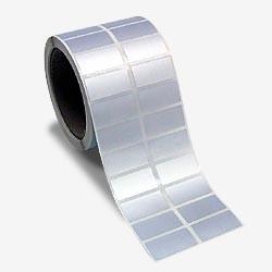 ESTO 2134 silberne Polyester Etiketten